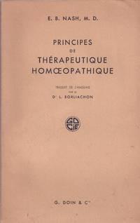 Principes de Thérapeutique Homoeopathique by NASH - 1950 - from Le Grand Chene (SKU: 21675)