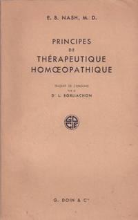 Principes de Thérapeutique Homoeopathique