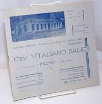 image of Cav. Vitaliano Salice, primaria premiata fabbrica italiana di astucci per occhialeria. Listino 1933 - XI