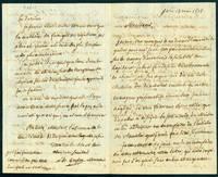 Autograph letter signed, 4pp., concerning hospital sanitation by  Louis Bernard Guyton de Morveau - 1808 - from Jeremy Norman & Co., Inc. (SKU: 22254)