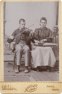 [Cabinet Card of Two Blind Musicians with Their Instruments]