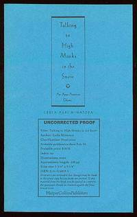 New York: HarperCollins, 1992. Softcover. Fine. First edition. Uncorrected Proof. Fine in wrappers.
