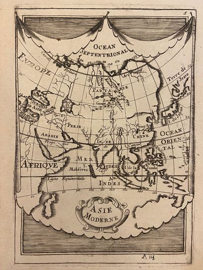 Paris: Denys Thierry, 1683. unbound. Miniature map. Copper plate engraving with hand coloring. Image...