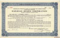 A Vintage Railroad Stock Certificate Issued to Richard S. Moore on April  2nd 1930