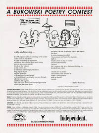 image of A Bukowski Poetry Contest (Original broadside poster)