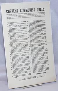image of Current Communist Goals [handbill]