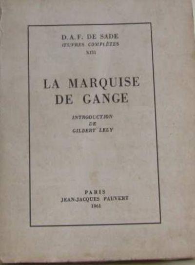 la marquise de gange by de sade d a f 1961 from crealivres and biblio