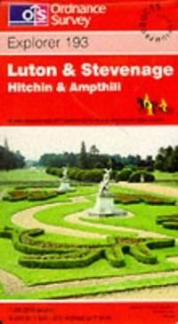 image of Luton and Stevenage. Hitchin & Ampthill: Explorer Map 193 (Explorer Maps)