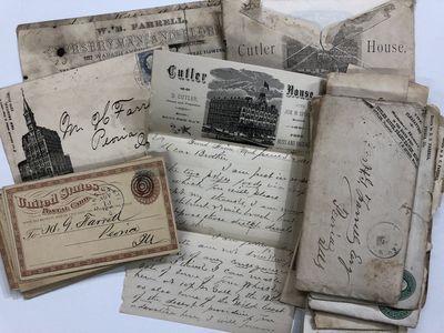 36 Manuscript Letters and Postcards...