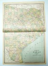 1889 Color Map of the Eastern Half of the State of Texas