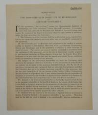 Agreement Between The Massachusetts Institute of Technology and Harvard University [ caption title ]