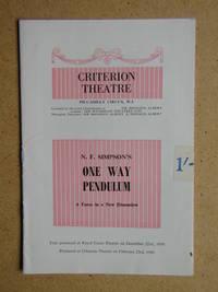 N. F. Simpson's One Way Pendulum. Theatre Programme.