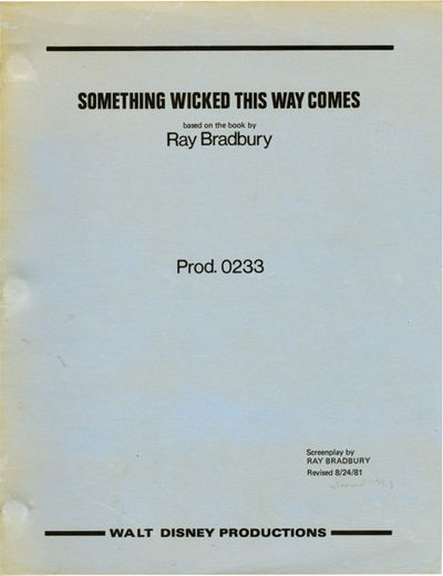 Burbank, CA: Walt Disney Pictures, 1981. Revised script for the 1983 film. Written for the screen by...