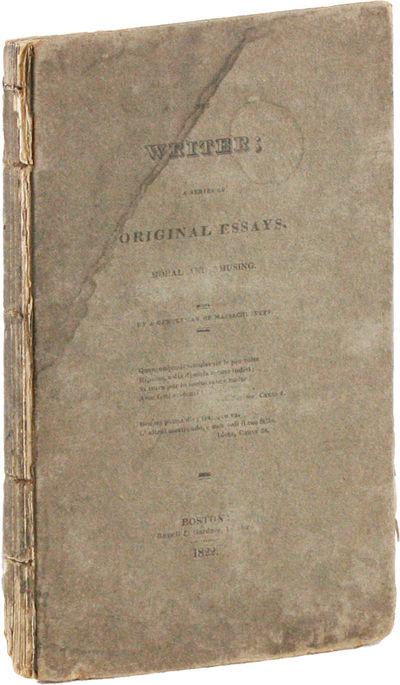 Boston: Russell & Gardner Printers, 1822. First Edition. 12mo. Original printed board; 131pp. Paper ...