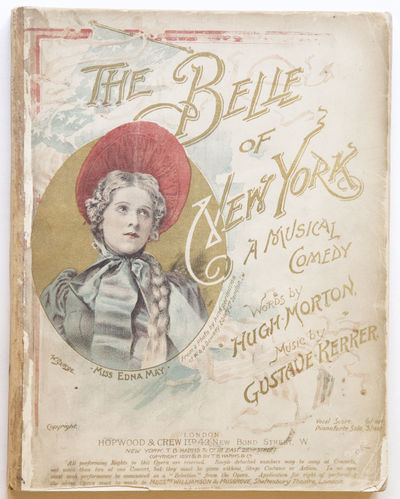 London... New York: Hopwood... T.B. Harms, 1898. Quarto. Original publisher's wrappers illustrated b...