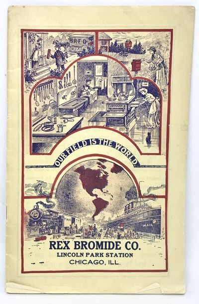 Chicago: Rex Bromide Co., c. 1910. Staplebound. Color illustrated wraps. Very good. 63 pages. 22 x 1...