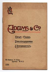 Adams & Co. High-Class Photographic Apparatus catalogue