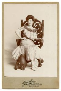 Cabinet Card of a Woman Boxer