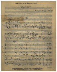Quintet for piano and string quartet. Op. 47. Dedicated to the Stanley Quartet. Full score....