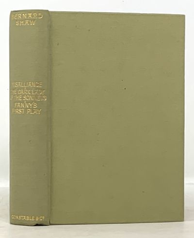 London: Constable and Company Ltd, 1914. 1st Edition in English (Laurence A128a). Green cloth bindin...