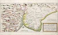 The description of Romney Marsh, Walland Marsh, Denge Marsh & Guildford Marsh with the Divisions of their Waterings, their Heads Arms.... by Engraved by PARKER. S - c1717. - from Peter Harrington (SKU: 57884)