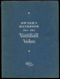 image of Owner's Handbook for the Vauxhall Velox