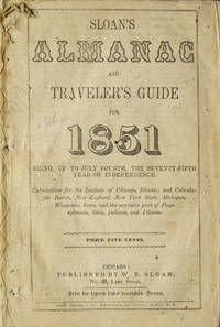 image of Sloan's Almanac and Traveler's Guide for 1851