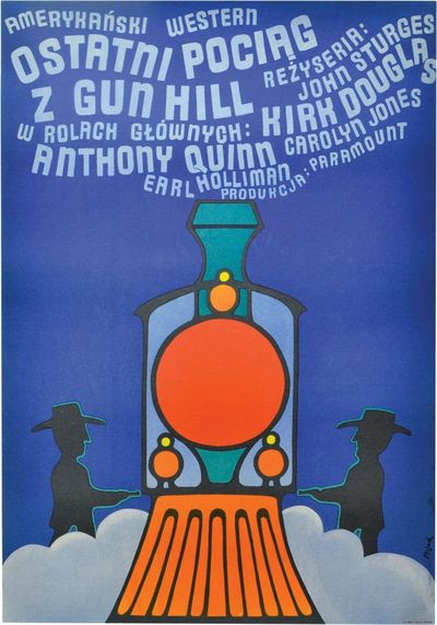 Poland: N.p., 1966. Original Polish A1 poster, circa 1966, for the 1959 US film. Kirk Douglas and Ea...