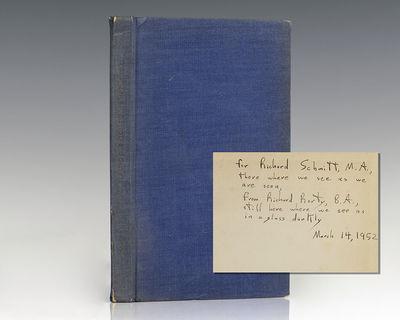 Frankfurt: Vittorio Klostermann, 1951. Second edition of Heidegger's work on Kant. Octavo, original ...