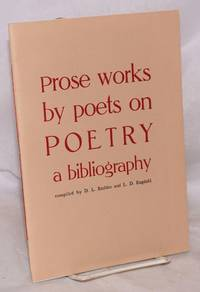 Prose Works by Poets on Poetry, a bibliography