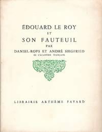 Edouard le Roy et son fauteuil