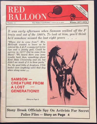 Brooklyn: Red Balloon, 1977. 35p., staplebound wraps, 8.5x11 inches. Very good. Much on student acti...