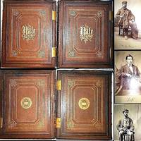 1870 YALE UNIVERSITY YEARBOOK 1ST EDITION 200 PHOTOGRAPHS SIGNED 2 VOLUME SET FOLIO LEATHER