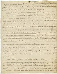 """AM. 1pg. 8 ½"""" x 11"""". No date. No place. A partial autograph manuscript in the handwriting of Wi..."""