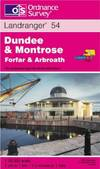 image of Dundee and Montrose, Forfar and Arbroath (Landranger Maps)