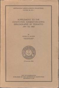 image of Supplement to the Annotated Subject-Heading Bibliography of Termites 1955 to 1960