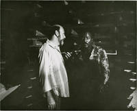 image of Black Gunn (Original double weight photograph of Jim Brown and Robert Hartford-Davis on the set of the 1972 film)