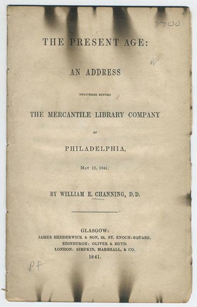 Glasgow: James Hedderwick & Son; Edinburgh: Oliver & Boyd; London: Simpkin, Marshall, & Co., 1841. 8...