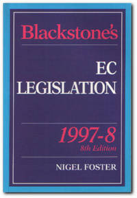 Blackstone's EC Legislation : 1997-8