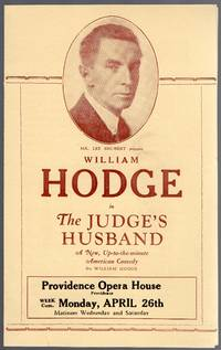 image of Vintage 1926 Providence Opera House Handbill for the Judge's Husband