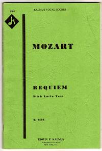Requiem Mass, K. 626 - Vocal & Piano Score with Latin Text [SCORE]
