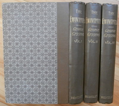 1890. A Novel. In Three Volumes. London: Richard Bentley and Son, 1890. Original patterned paper-cov...