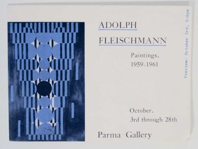 New York: Parma Gallery. First edition. Exhibition brochure for a show that ran October 3-28 (in the...