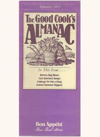 The Good Cook's Almanac (January through December 1985)