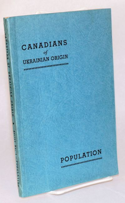 Winnipeg: Ukrainian Canadian Committee, 1945. 164p., charts and lists, very little pure text, first ...