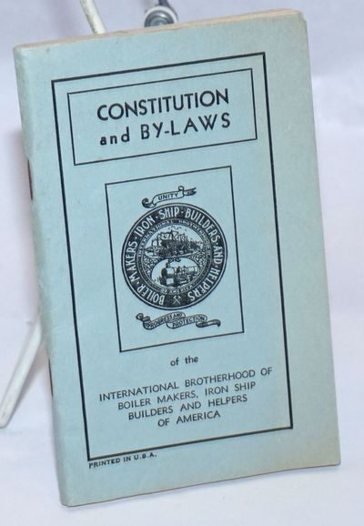 Kansas City, MO: the Brotherhood, 1937. 98p., plus four-page index; staplebound booklet, very good.