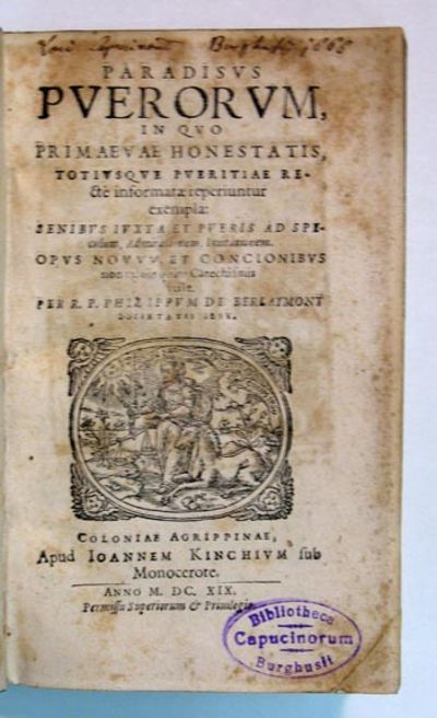 Coloniae Agrippinae: Ioannem Kinchium, 1619. 1st edition thus (i.e., with this imprint). Full vellum...
