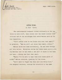 image of Little Shoes (Original manuscript for the 1951 short story)