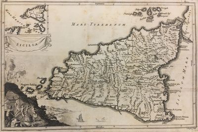 Isaac Basire. unbound. very good. Map. Uncolored engraving. Image measures 7.75