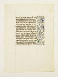 FROM A VERY FINE, VERY LARGE BOOK OF HOURS by  OFFERED INDIVIDUALLY ILLUMINATED VELLUM MANUSCRIPT LEAVES - ca. 1440 - from Phillip J. Pirages Fine Books and Medieval Manuscripts (SKU: ST12158bD)